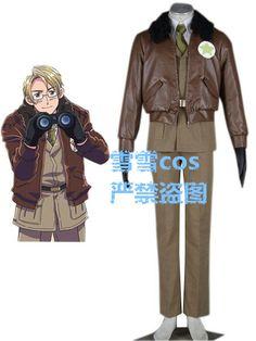 2016 Axis Powers Hetalia Alfred F. Jones America military uniform cosplay costume #Affiliate