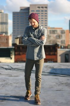 """cords, button down, beanie and boots: EW. I hate that this is a prescribed """"look"""", and yet. I'm always a sucker for it anyway."""