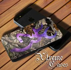 Browning Deer with Camo Case for iPhone