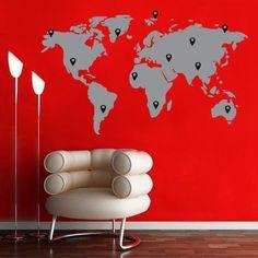 World Map – Grey