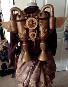 Steampunk/ time traveler. Back view