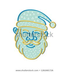 Illustration about Memphis style design illustration of Santa Claus, Kris Kringle or Saint Nick viewed from front on isolated background. Illustration of futuristic, kringle, design - 134734797 Memphis, Freelance Illustrator, Halloween Art, Graphic Illustration, Retro Illustrations, Line Drawing, Designs To Draw, Retro Fashion, Saint Nick