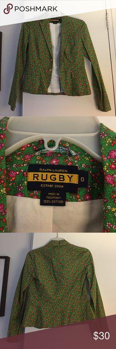 Ralph Lauren Rugby Floral Blazer - Size 0 Ralph Lauren Rugby Floral Blazer - Size 0 Looks brand new! Ralph Lauren Rugby Jackets & Coats Blazers