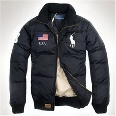 Ralph Lauren Men Darkblue Down Mesh Jackets