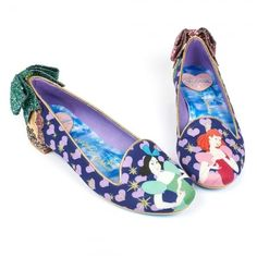 Irregular Choice Cinderella 4329-22A Ugly Sisters Womens Low Pumps - Navy