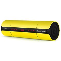 Excelvan KR8800 Touch Rechargeable Portable NFC Wireless Bluetooth Speaker with FM Radio for iPhone Laptop Mobile Phone PC Tablet PC Yellow ** You can get more details by clicking on the image.