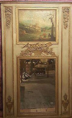 Antique French Louis XV Trumeau Mirror