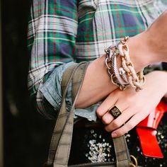 Those bracelets and ring almost get me excited about jewelry...
