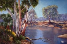 I am an artist who is passionate about Australia. I paint nature-inspired oil paintings of forests, flowers, the outback, gum trees and the sea. Small Study, 30 Day Challenge, Tree Art, Challenges, Scene, Bird, Artist, Larger, Nature