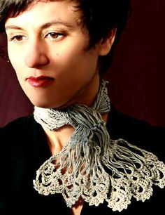 Hairpin Lace Neck Scarf by stitchdiva, via Flickr