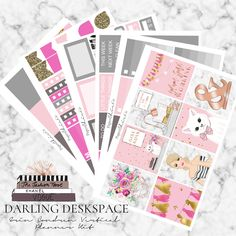 Darling Deskspace Erin Condren Planner Stickers // PaperChicCo