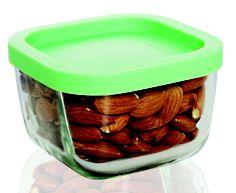 Design prático para potes de vidro transparente que possibilita  visualizar o conteúdo armazenado.  Produto ideal para guardar alimentos.  Potes que permitem servir a mesa com praticidade de fácil combinação.     Produto fabricado com vidro de altíssima qualidade.