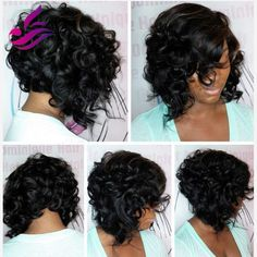 86.40$ Watch now - http://alin5r.worldwells.pw/go.php?t=32599578107 - unprocessed virgin brazilian glueless full lace short human hair wigs with bangs short wavy bob lace front wig for black women