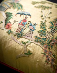 Hand-embroidered Cathay cushion, from £1,750