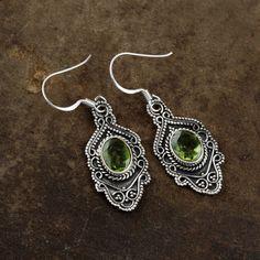 cb6ac94fe Peridot Earrings, Birthstone Earrings, Peridot Jewelry, Modern Earrings,  Boho Earrings, Vintage Earrings, 925 Silver Earrings Christmas Gift  #fashion ...