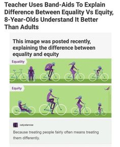 "Equality vs equity: ""because treating people fairly often means treating them differently"" Faith In Humanity Restored, Haha, Intersectional Feminism, Equal Rights, The More You Know, Social Issues, Fun Facts, Random Facts, Random Stuff"
