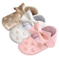 Bebe PU Leather Moccasins Moccs Shoes Bow Fringe Soft Soled Non-slip Footwear Crib Shoes