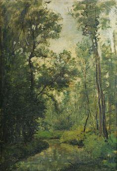 Karl Daubigny (Charles-Pierre Daubigny) (1846 - 1886)  IN THE WOODS