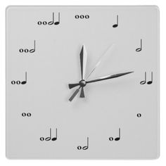 Music Note Wall Clock
