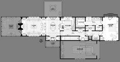 house plan one room deep - Google Search