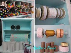 PVC Scrapbook Organization, Craft Organization, Craft Storage, Organizing Ideas, Homemade Storage, Recycled Crayons, Flexible Tubing, Pvc Pipe, Frugal