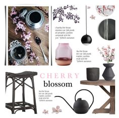 """Cherry Blossom"" by c-silla ❤ liked on Polyvore featuring interior, interiors, interior design, home, home decor, interior decorating, Safavieh, Flamant, House Doctor and Muuto"