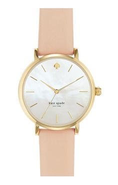 Kate Spade 'metro' round leather strap watch http://rstyle.me/n/tjccwbh9c7