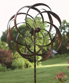 Another great find on #zulily! 16'' Deck Flower Spinner Garden Stake #zulilyfinds