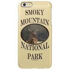 Smoky Mountain National Park Whitetail Buck V Incipio Feather Shine iPhone 6 Plus Case This wildlife animal souvenir design features landscape nature travel photography of a Great Smoky Mountain National Park whitetail buck. This photo was taken in late fall. Great gift for a park lover, hiker, hunter, climber or outdoorsman. #SmokyMountains #Mountains #wildlife #buck