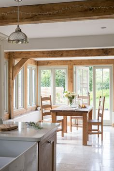 Surrey Pearmain - Border Oak - oak framed houses, oak framed garages and structures. Country Cottage Interiors, Country Interior, Border Oak, Oak Framed Buildings, Oak Frame House, Room Additions, House Windows, Home Kitchens, Building A House