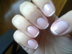 Classic French Manicure...for short nails :)
