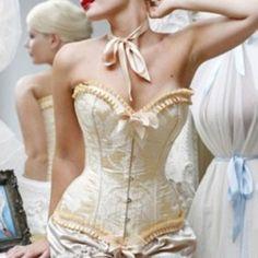 china wholesale Sexy Boned Lace up Corset Bustier Waist Cincher G-String Lingerie 345 Plus Size