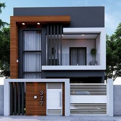 Mayra Kennya F. 3 Storey House Design, Two Story House Design, House Gate Design, Duplex House Design, House Front Design, Wall Design, Modern Exterior House Designs, Modern Small House Design, Modern House Facades