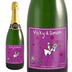 Personalised Champagne - Purple Ronnie Married Couple  from Personalised Gifts Shop - ONLY £39.95