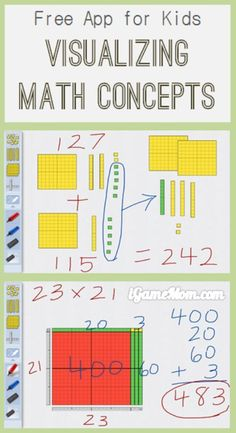 Free App: Visualize Math Concepts with Base10 | iGameMom http://igamemom.com/2014/09/03/free-app-visualize-math-concepts-with-number-pieces/