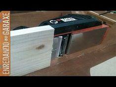 Como convertir el cepillo eléctrico en cepillo de mesa. Make a jointer with an electric hand planer - YouTube