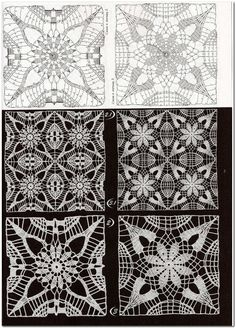 "Photo from album ""Дуплет on Yandex.Disk - Her Crochet Crochet Motif Patterns, Crochet Diagram, Crochet Squares, Crochet Granny, Crochet Designs, Crochet Doilies, Crochet Flowers, Crochet Lace, Stitch Patterns"