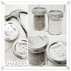 DIY Mason Jar Salt & Pepper Shakers