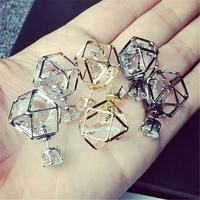 Fashion Contracted Geometric Alloy Hollow Stud Earrings For Women Brand Jewelry