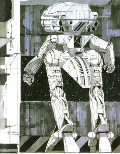 WaDom for Gundam ∀ by Syd Mead Syd Mead, Concept Draw, Black White Art, Fantasy Inspiration, Design Inspiration, Image Of The Day, Conceptual Design, Robot Art, Cool Sketches