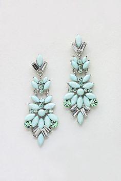 #beautiful Marquise Chandelier Earrings in Cool Mint