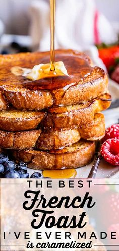 Awesome French Toast Recipe, Best French Toast, French Toadt Recipe, Best Overnight French Toast Recipe, French Toast Batter, French Toast Waffles, Best Breakfast Recipes, Breakfast Dishes, Brunch Recipes