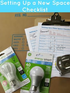 A free printable with tips for Saving money and setting up a new space checklist - Organized 31 #sponsored  Helpful for when you've moved into a new house.
