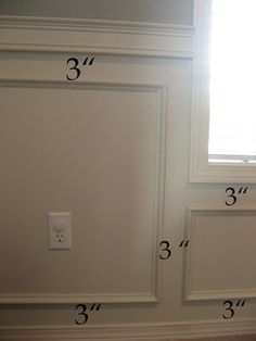 """Chair rail for living/dining room wall, 39"""" from floor to chair rail #ChairRail"""