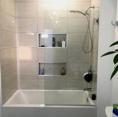 A Glass Warehouse frameless shower door can instantly make your bathroom look bigger and brighter, adding a fresh and modern feel yet having the versatility to complement any bathroom style. Bathroom Remodel Cost, Bath Remodel, Bathroom Renovations, Decorating Bathrooms, Tub To Shower Remodel, Bathroom Tub Shower, Bathtub Shower Combo, Bathroom Bin, Mosaic Bathroom