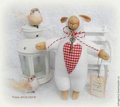 Овечка с ключиком - белый, овечка, овечка Тильда, овен, Новый Год, 2015 год, барашек