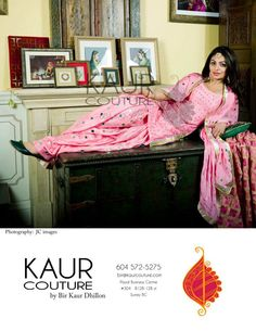Neeru Bajwa looking beautiful in a Shisha suit with a Pink phulkari on the side.