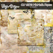 Cu vol 191 Mix Media papers Florju Designs #CUdigitals cudigitals.comcu commercialdigitalscrapscrapbookgraphics #digiscrap