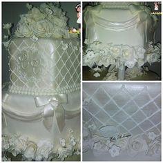 Bolo casamento sextavado