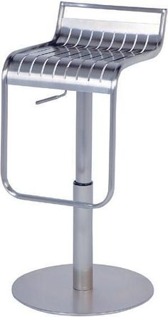 """Chintaly 0539-AS Pneumatic Gas Lift Adjustable Height Swivel Stool - 21"""" - 30"""""""